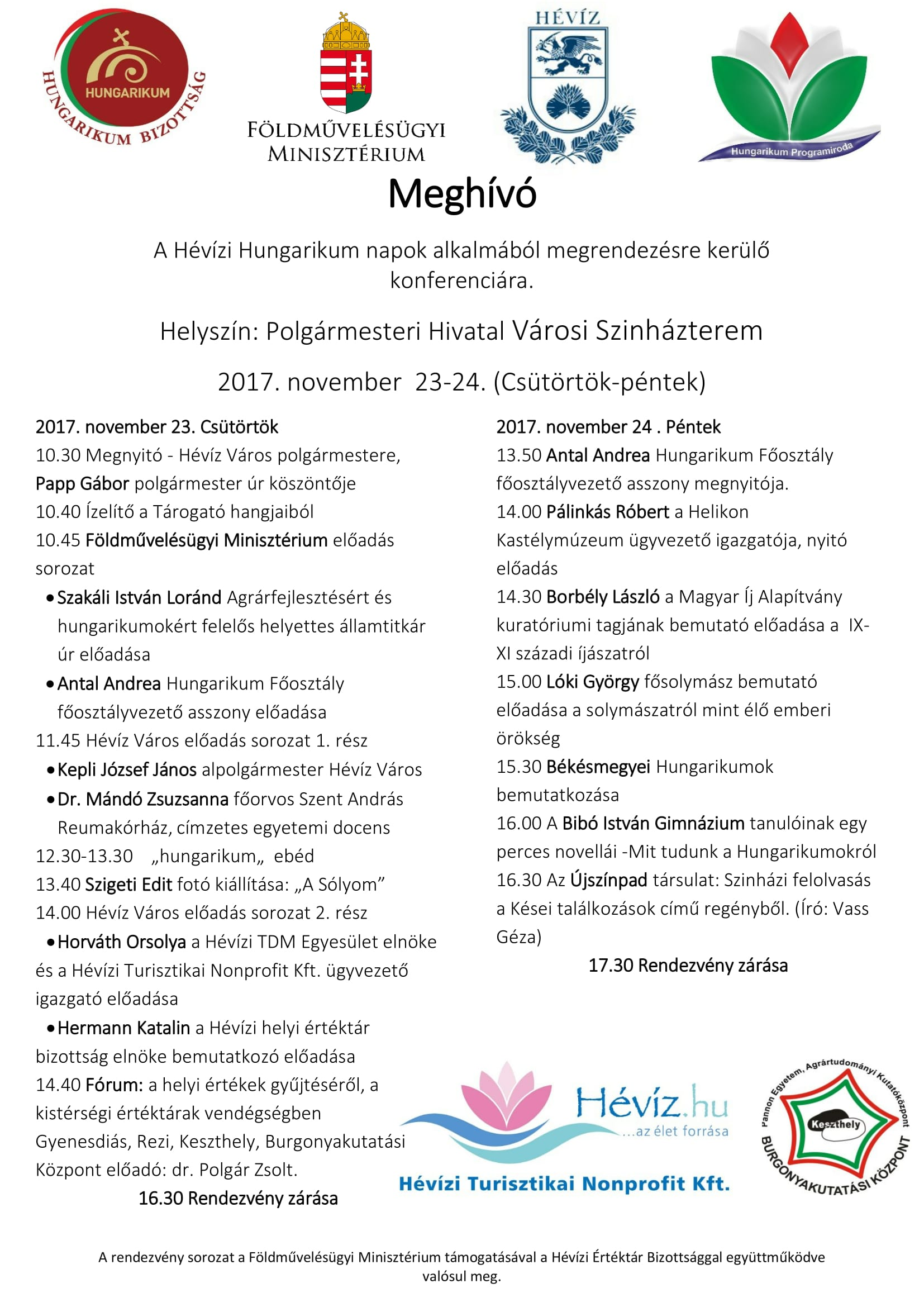 Meghívó HUngarikum 2017 Georgikon-1